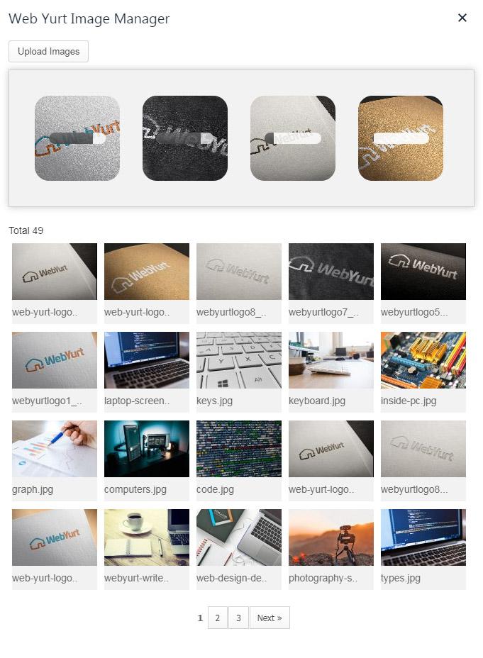 Web Yurt TinyMCE Image Uploader